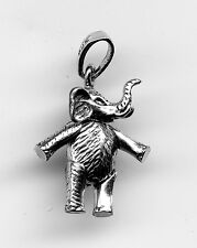 Sterling Silver Articulated Elephant Charm 2Gr 20x15mm 8415q