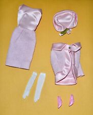 VINTAGE BARBIE REPRODUCTION FASHION LUNCHEON DRESS, JACKET, GLOVES HAT AND SHOES