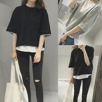 Women Casual Short Sleeve Loose Blouse T-shirt Fashion Korean Style Tee Tops New
