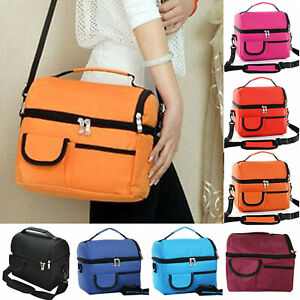 Lunch Bags Zip Up Food Drink Cooler Backpack Family Picnic Insulated Pack Box