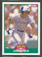 1989 Score Rookie & Traded - #83T - Junior Felix - Toronto Blue Jays