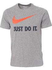 Nuevo Hombre Nike Logo Camiseta, Top Con Cuello Redondo Bordado s-XL