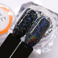 BORN PRETTY Galaxy Holo Flakes Nail Sequins Glitter Powder Bling Laser Chrome
