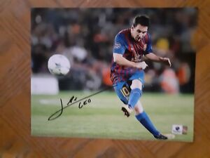 LIONEL MESSI Hand signed autographed photo new never displayed w/COA