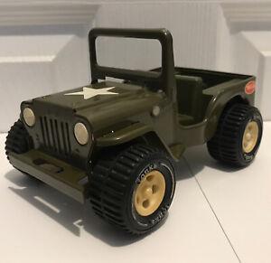 Vintage 1970's-1980's Tonka Pressed Steel Military Willys Jeep