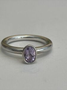 PANDORA TIED TOGETHER PINK AMETHYST RING Size 8
