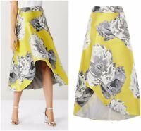 ex Coast Sorrento Asymmetrical Hi Low Jacquard Midi Skirt