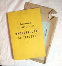 1947 CATERPILLAR D8 TRACTOR REFERENCE BOOK with ORIGINAL MAILER OSBORNE IDAHO