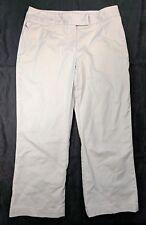"""Nike Golf Dri-Fit Beige Cropped Capri Pants Size 6 24"""" Inseam"""