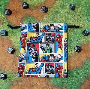 DC Green Lantern Flash Batman dice bag, card bag, makeup bag, small gift bag