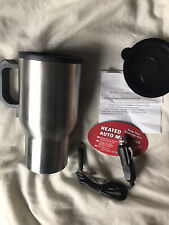 1 Mug Heated Car Travel Stainless Steel Portable Cup Coffee Tea Auto Charger 12V