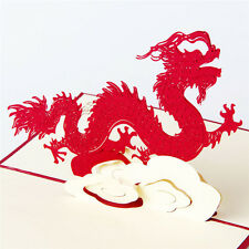 3D Pop Up Greeting Cards Dragon Birthday Children Father's Day Xmas Thanks Gifts