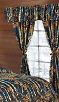 5 PIECE NAVY BLUE CAMO CURTAINS WOODS CAMOUFLAGE SET WINDOW JEANS SEALS FOOTBALL