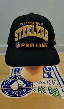 Vintage VTG 90s RARE Wool Champion Proline Pittsburgh Steelers Arch Snapback Hat