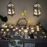 10 Lights Eid Mubarak Ramadan Light LED Lantern Lights String Muslim Party Decor