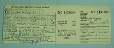 Vintage 1978 Flint Michigan Conservation Department Resident Fishing License