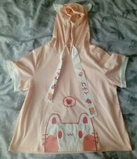 Kawaii Cat Ears Hoodie Top, T-shirt, Fairy Kei, Neko, Lolita, Pink, Harajuku