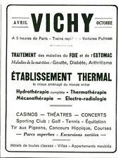 Publicité ancienne pharmaceutique produits Vichy 1933 issue de magazine