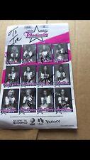 1989-1990 DALLAS  COWBOYS Cheerleaders 12 Signatures