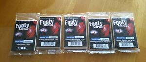 AFL / HERALD SUN - FOOTY COLLECTOR CARDS -2005 x 5 UNOPENED FACTORY SEALED PACK