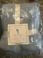 Pottery Barn Kids Luxe Chamois Duvet Cover Twin Slate Blue NEW