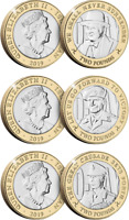 Isle of Man - 2019 The 75th Anniversary of D-Day Three £2 Coin Collection