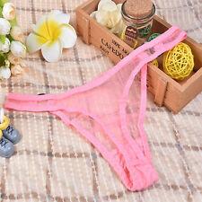 Women Mesh Sheer Panties Underwear Lingerie Briefs Thongs G-String Sexy V-String