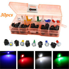 30 pcs Mixed Color T5 Led Twist Socket Non-Decoding Car Dashboard Bulb Lights (Fits: Chrysler Concorde)