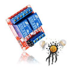 12V 2 Kanal/Channel Relais Modul Universalrelais High/Low Optokoppler Arduino