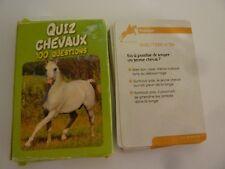 """Jeu de cartes """"QUIZ sur les chevaux"""""""
