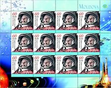 2021 Moldova , Space 60y of first Space Flight of Yurii Gagarin Espace Sheetlet