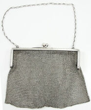 Antique R. Blackinton & Co. Sterling Silver Mesh Purse With Chain 4681 Engraved