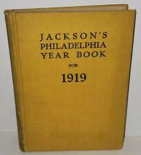 JACKSON'S PHILADELPHIA YEAR BOOK FOR 1919 HARD BACK BOUND ALMANAC ORIGINAL