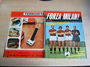 FORZA MILAN!=N°8/9 1973=SERIE A 1973/74=POSTER MILA 1973/74 NON SPILLATO=RIVERA