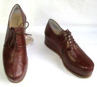 ROBERT CLERGERIE Chaussures PLATEFORME cuir cognac 6 = 37.5 TRES BON ETAT
