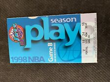 NBA- UTAH JAZZ VS. HOUSTON  ROCKETS-1998 PLAYOFFS GAME 2-APR.25TH TICKET STUB