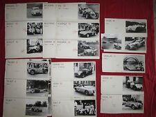 N° 2052 / 24 H du Mans 1950 : lot de 56 photos des concurrents et automobiles