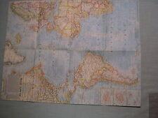 VINTAGE ATLANTIC OCEAN + OCEAN FLOOR MAP National Geographic June 1968 MINT