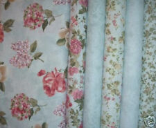 6 YDS SSI Floral Calligraphy QUILT Fabric  in  Blues