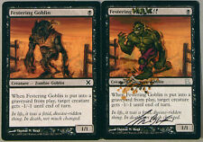 Festering Goblin - Festering Hulk - signed ALTERED ARTIST PROOF   - MTG, Magic