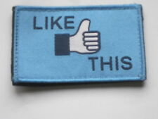 LIKE THIS ,Unit ID Morale Patch,Klett Rückseite,Abzeichen,Badge
