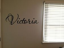 Custom Victoria Girls Room Name Nursery Baby Kids Vinyl Wall Quote Sticker