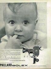 B- Publicité Advertising 1963 Camera Paillard Bolex Zoom Reflex ... bébé