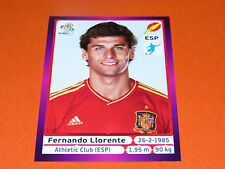 306 FERNANDO LLIORENTE ESPAGNE ESPAÑA  FOOTBALL PANINI UEFA EURO 2012