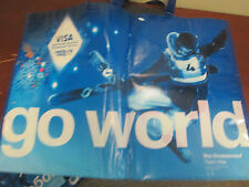"2014-SOCHI WINTER OLYMPICS- VISA -GO WORLD 2 HANDLE BAG- 17X23""-OVERSIZED"