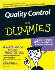 Quality Control For Dummies  (UK IMPORT)  BOOK NEW