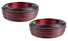 22 GA Gauge 200' FT Red Black Speaker Wire Power Ground Copper Clad Aluminum CCA