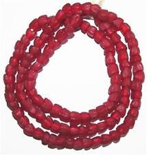 RED FLOWER AFRICAN GHANA KROBO POWDERGLASS Recycled TRADE BEADS