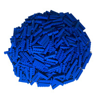 250 Blaue Lego Steine 1x6 - Hochsteine Bausteine - Blau - 3009