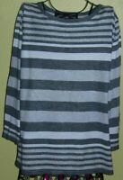 181 ) Toller getreifter Damen Strick Pullover Gr. XL der Firma Bexlseys Woman